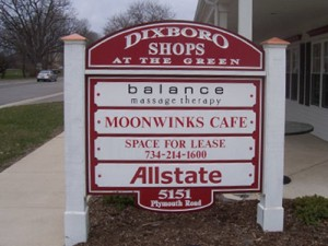 exterior directory sign