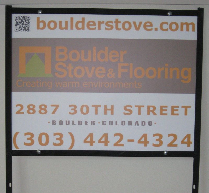 Boulder Stove and Flooring panel