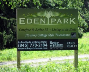 large post and panel sign