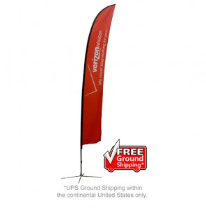 Extra Large Single Sided with X Base Feather Outdoor Banner Stand