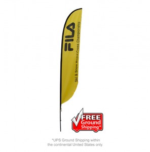 Medium Single Sided Feather Outdoor Banner Stand
