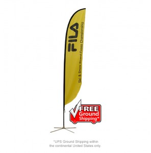 Medium Single Sided with X Base Feather Outdoor Banner Stand