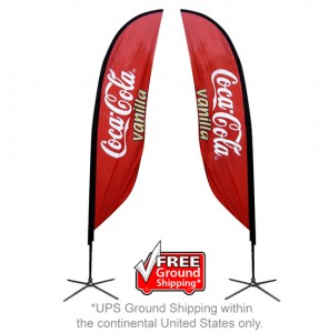 Small Single Sided with X Base Feather Outdoor Banner Stand (1)