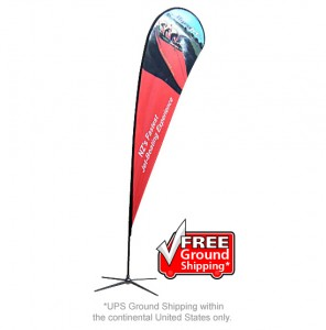Small Single Sided with X Base Feather Outdoor Banner Stand