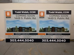 wooden real estate signs, commercial real estate signs