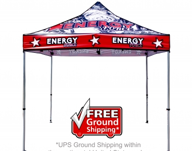 Custom designed and printed tents