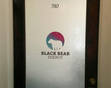 Black Bear Energy window graphics