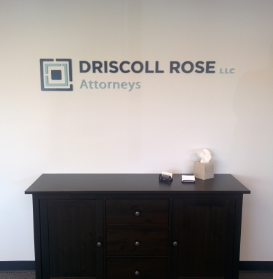 Custom Lobby Sign for Driscoll Rose