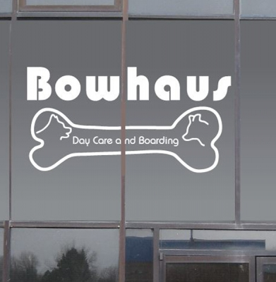 Bowhaus window graphic