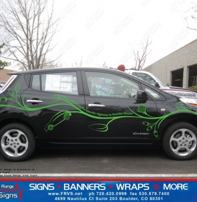 Nissan Leaf vehicle graphic