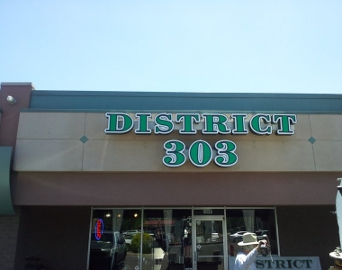 District 303 lighted sign