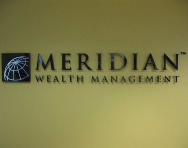 Meridian Wealth Management acrylic sign
