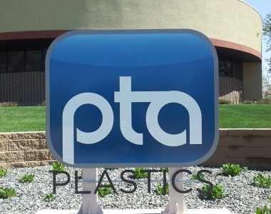 PTA plastic aluminium monument sign