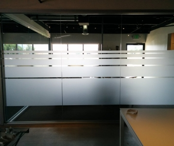 Office Privacy|Utilizing Frosted Vinyl for Window Graphics